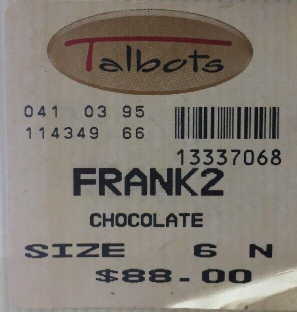 Talbots Frank2 Alligator Skin Snakeskin Tassel Chocolate Frank2 Talbots Loafers Shoes Womens 6 c4e79f