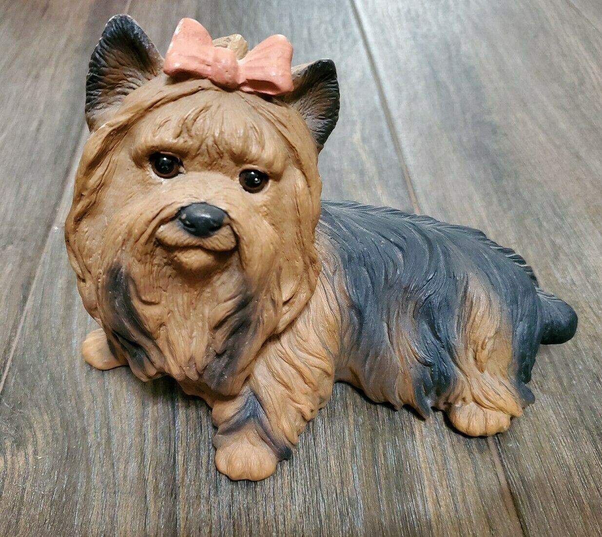 YORKIE YORKSHIRE TERRIER DOG Collectible Figurine Statue Hand Painted Home  Decor