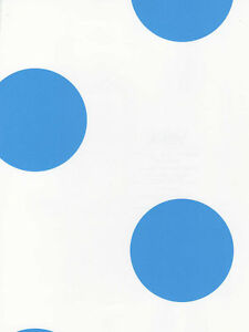 Large Royal Blue Polka Dots On White Wallpaper Kd1867 Ebay