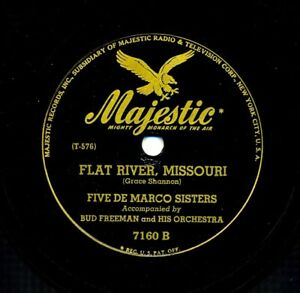 The-5-De-MARCO-SISTERS-amp-BUD-FREEMAN-on-1945-Majestic-7160-Flat-River-Missouri
