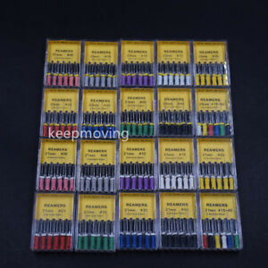 Dental-Endo-Root-Canal-Stainless-Steel-Hand-Use-H-K-Files-Endodontics-REAMERS