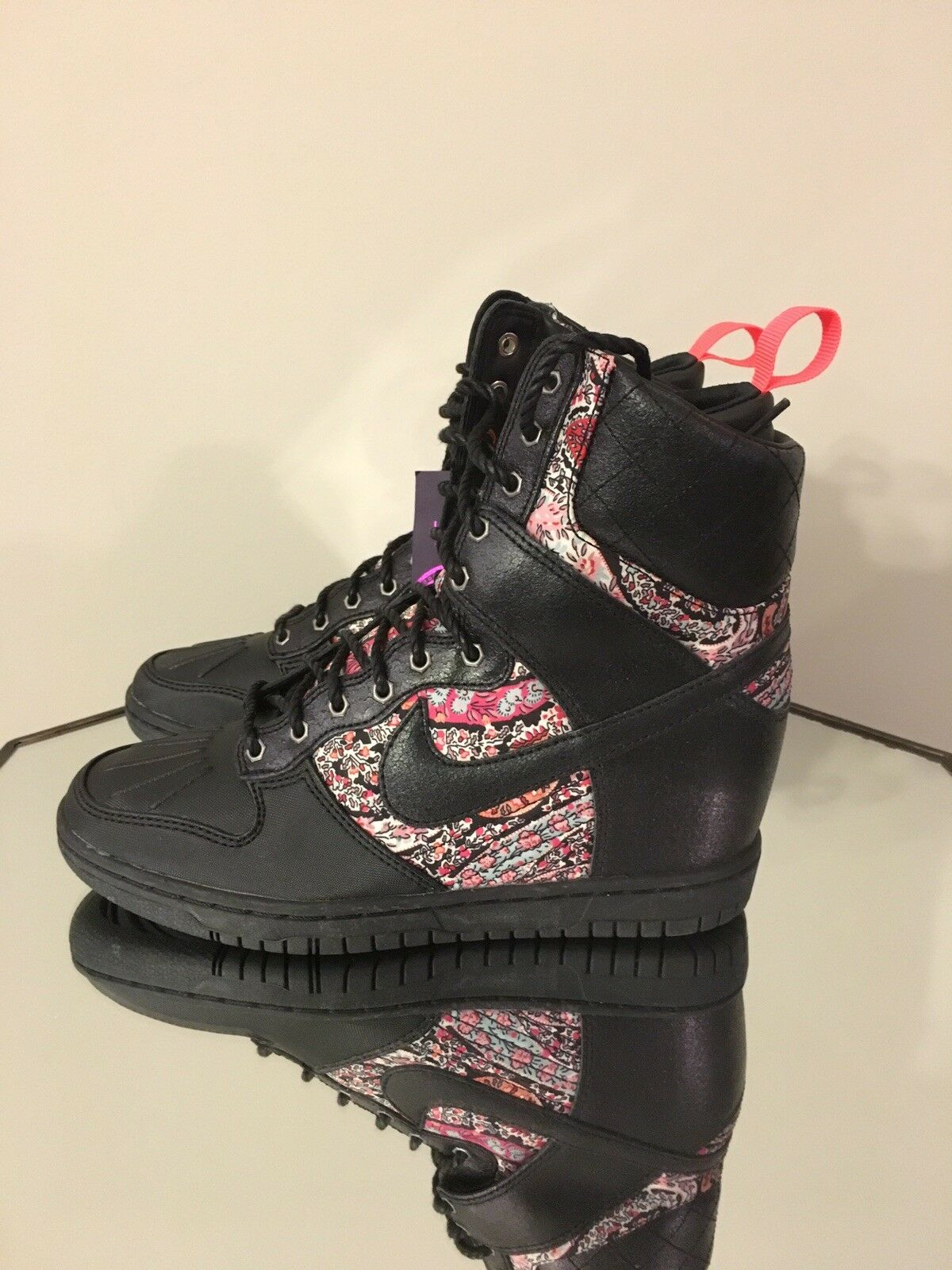 NIKE DUNK SKY HI SNEAKERBOOT LIB QS LIBERTY LONDON SIZE WOMEN'S 7.5 [632180-006]
