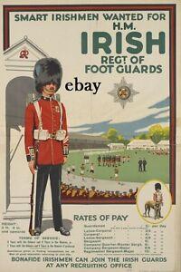 RECRUITING POSTER IRISH GUARDS BRITISH ARMY ULSTER IRELAND NEW A4 SIZE PRINT - UNITED KINGDOM, United Kingdom - RECRUITING POSTER IRISH GUARDS BRITISH ARMY ULSTER IRELAND NEW A4 SIZE PRINT - UNITED KINGDOM, United Kingdom
