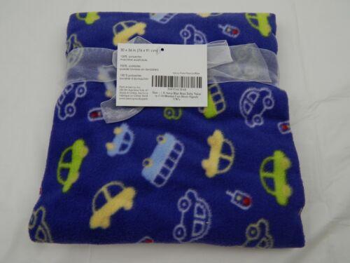 "Navy Blue Boys Baby Blanket with Cars Buses Signals Nursery Crib 30/""x 36/"" Fleece"