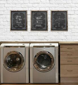 Image Is Loading Laundry Wall Decor Set Of 3 Unframed
