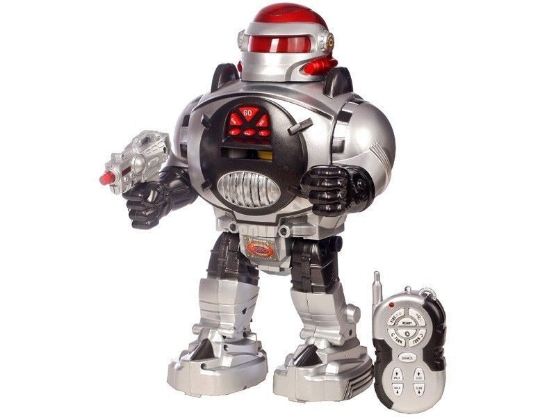 RC Radio Controlled Robot Walking Talking Shooting Slide Toys Music and Lights