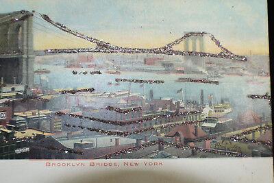 *early* Brooklyn Bridge Ny Postcard *undivided Back* Goede Smaak