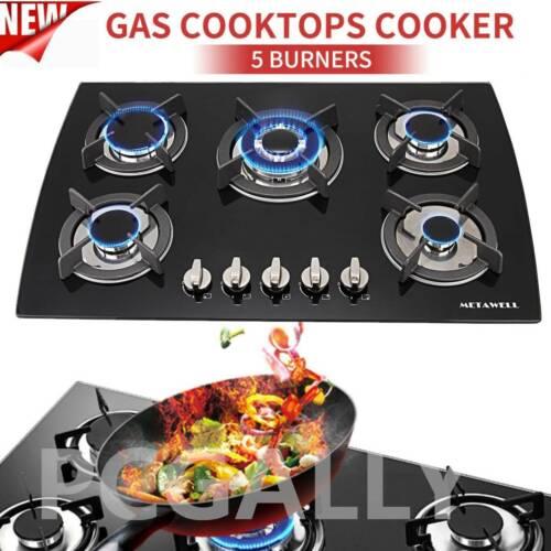 "23/"" 30/"" 34/"" 4//5//6 Burners Built-In Stove Cooktops NG//LPG Gas Hobs Silver Black"