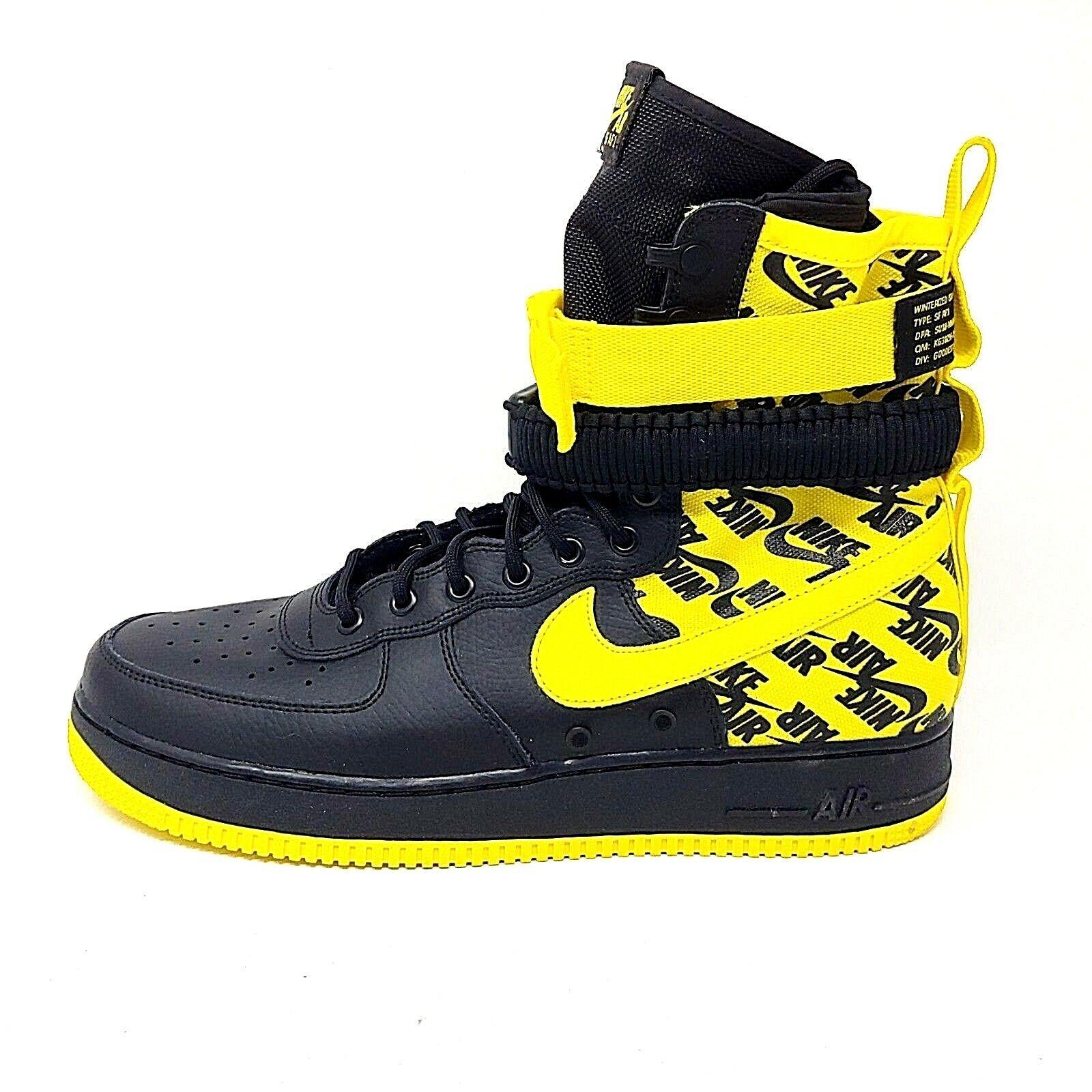 f22f76c9235fc Nike SF Air Force 1 High '17 AF1 Black Dynamic Dynamic Dynamic Yellow  Sneakers Mens Size 12 cd9822