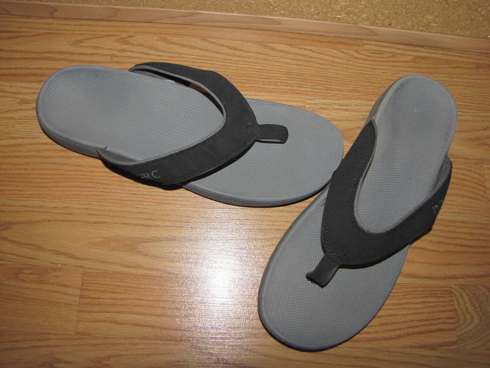NWOB DRC Dr. Comfort 'Collins' Black Flip Flops - 12