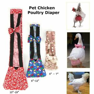 3 Sizes Pet Goose Duck Chicken Poultry Adjustable Easy To Use Cloth Diaper Farm