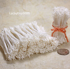 250pcs White Double Sided Round Flower Stamen Craft Cards Artificial Wedding DIY