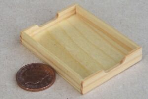 1:12 Scale Single Wooden Tea Tray Dolls House Miniature Kitchen Accessory bk3