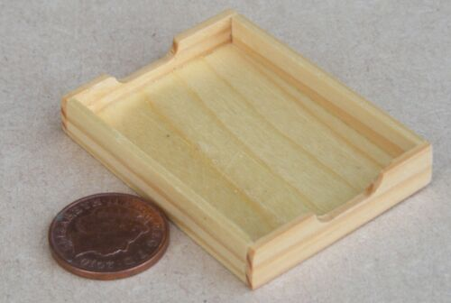 1:12 Scale Single Wooden Tea Tray Tumdee Dolls House Miniature Kitchen bk3