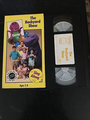 BARNEY THE BACKYARD SHOW VHS SING ALONG~SANDY DUNCAN Black ...
