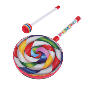 Percussion-Instrument-Lollipop-Hand-Drum-Kids-Baby-Children-Music-Learning