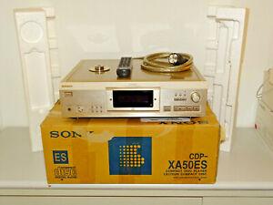 Sony-cdp-xa50es-high-end-reproductor-de-CD-champan-OVP-incl-FB-2j-garantia