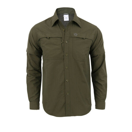 Men Army Shirts Tactical Combat Shirt Casual Quick dry Removable Sleeves Hiking