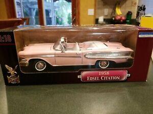 Yat Ming Pink Road Legends 1958 Edsel Citation Convertible 1:18 Scale Die Cast