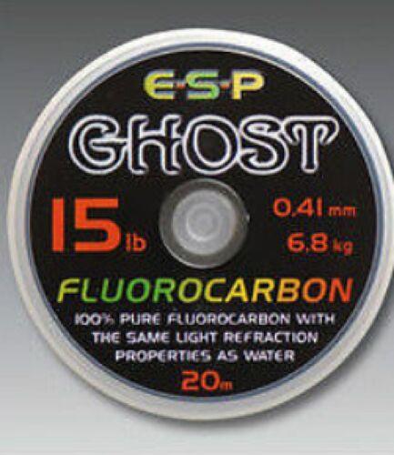 ESP GHOST FLUOROCARBON CARP FISHING LINE 20M SPOOL ALL SIZES