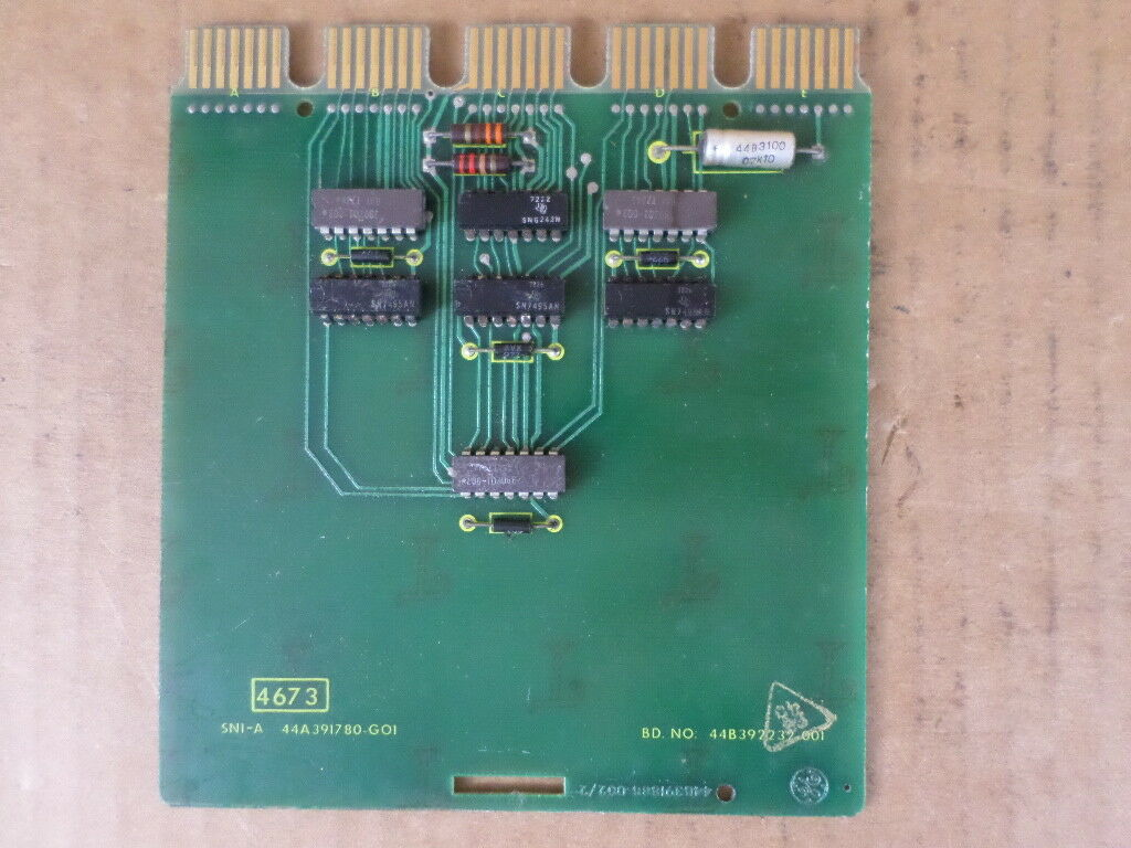 General Electric 44A391780-G01 PC Board SN1-A for Model 7500