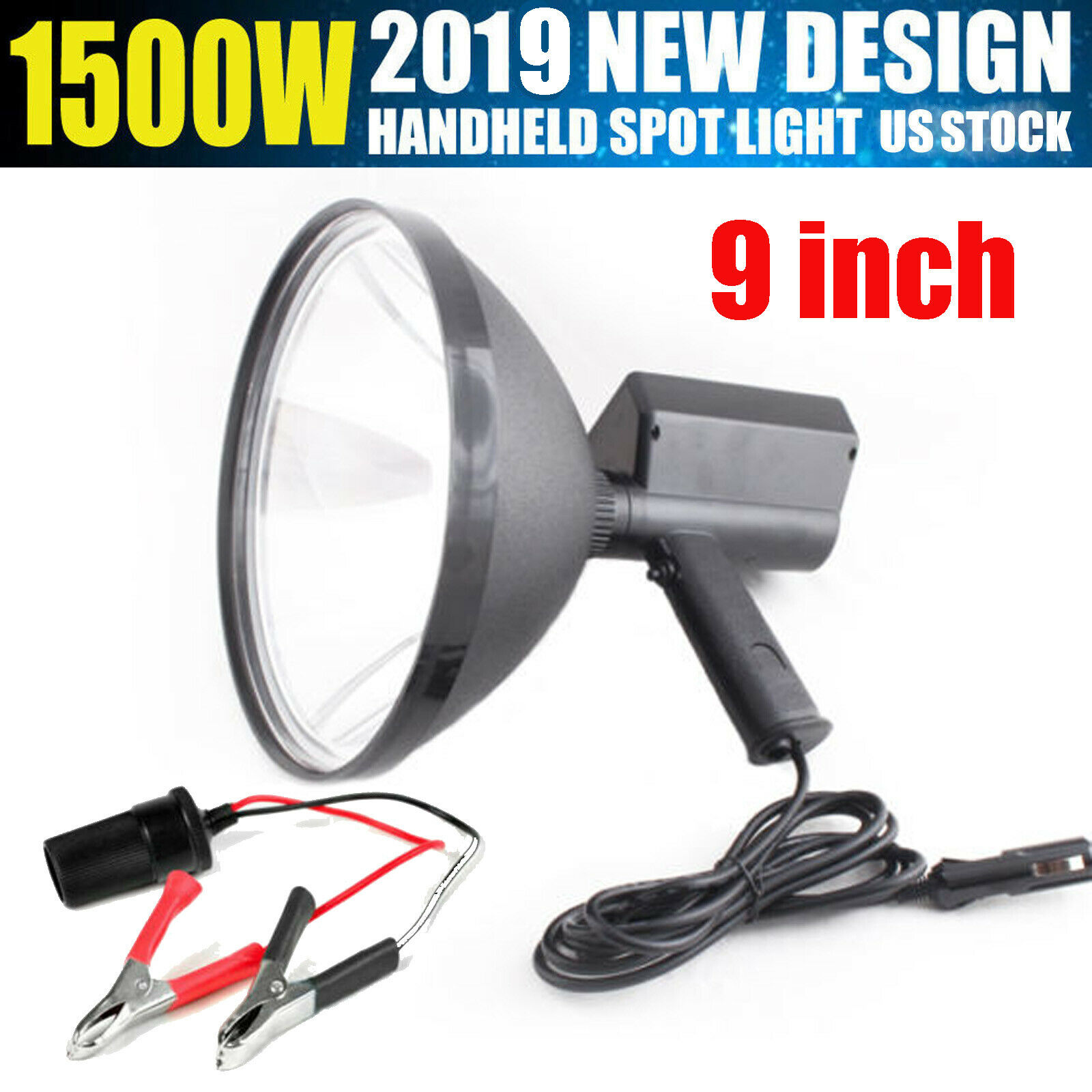 Hid  Xenon 1800W Waterproof Spotlight Hunting Handheld Search Torch Spot Light  clients first reputation first