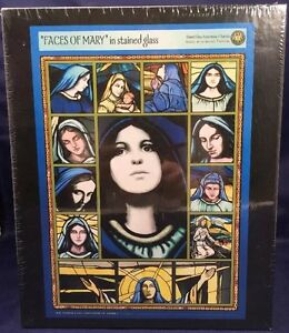 NEW-FACES-OF-MARY-In-Stained-Glass-500-Piece-Puzzle-JESUS-MOTHER-CHRISTIAN