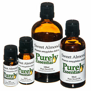 Sweet-Almond-Carrier-Oil-Certified-100-Pure-amp-Natural-5ml-10ml-50ml-100ml