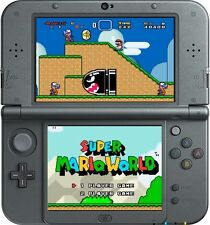 NEW 3DS XL, BLACK * newest model * THE MARIO BUNDLE * 19 GAMES, INCLUDES CHARGER