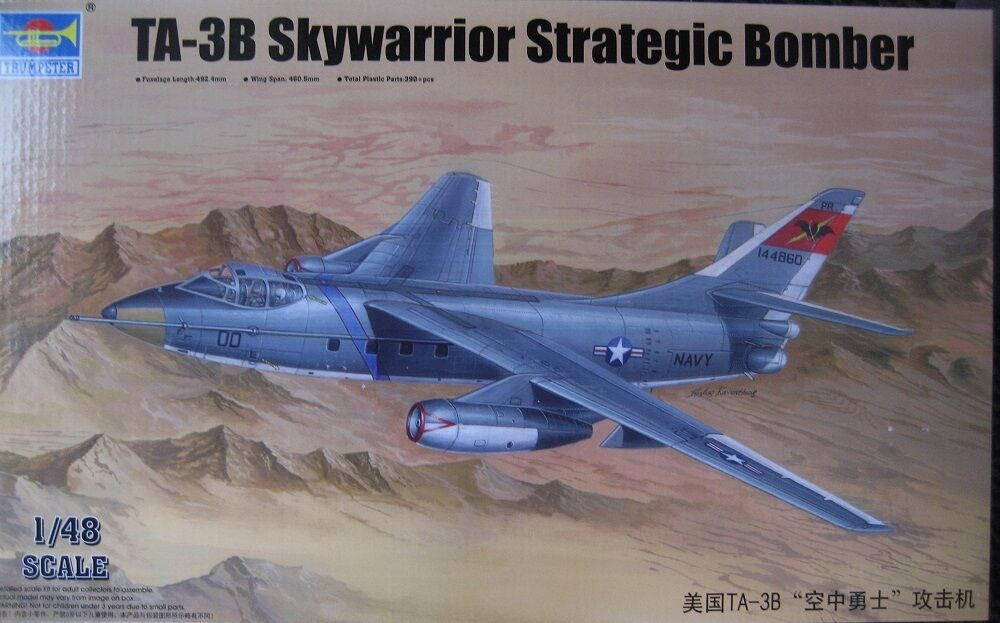 TRUMPETER 02870 02870 02870 1 48 TA-3B Skywarrior Strategic Bomber  | Zarte  103736