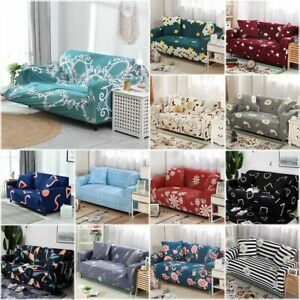 1-4-Seater-Sofa-Covers-Slipcover-Elastic-Stretch-Settee-Protector-Couch-Floral