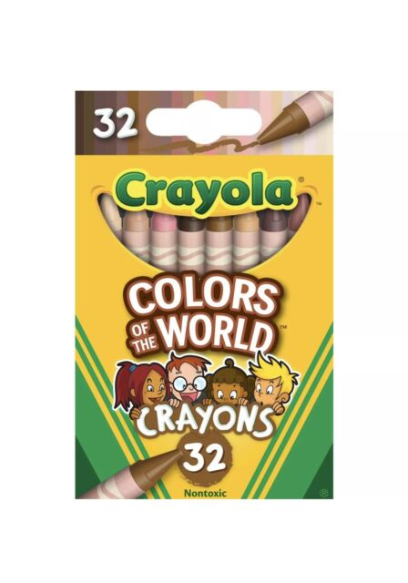 Crayola Colors of the World Multicultural Crayons 32 Pack-Brand New 2020 IN HAND