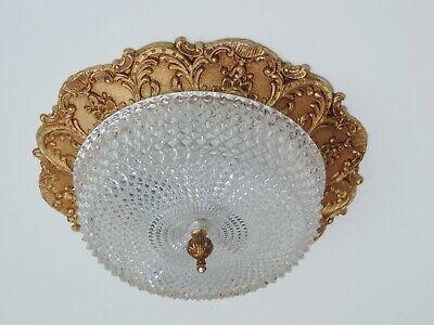 Der GüNstigste Preis Antik Stil Plafoniere Deckenlampe Metall Glas Frankreich French Ceiling Lamp Ø36