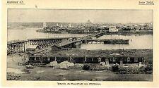 Irkutsk die Hauptstadt Sibiriens Hafen und Güterwaggons Histor.Bilddokument 1902
