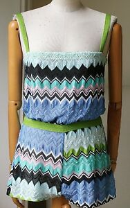 b92df33a7f Image is loading MISSONI-MARE-BLUE-MULTICOLOUR-ZIG-ZAG-ROMPER-PLAYSUIT-