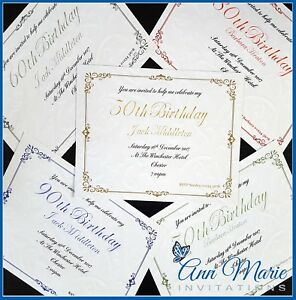 Image Is Loading PERSONALISED BIRTHDAY INVITATIONS PARTY INVITES 40th 50th 60th