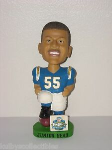 JUNIOR SEAU San Diego Chargers Bobble Head AGP Special 2003 Pro Bowl Edition NFL