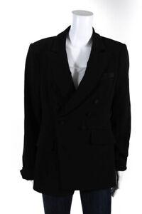 Jonathan Simkhai Womens Button Blazer Black Size 8