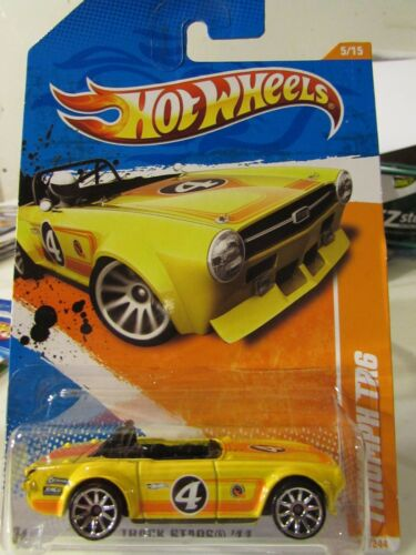 Hot Wheels Triumph TR6 Track Stars Yellow