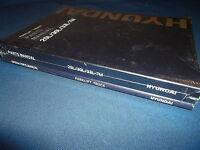 Hyundai 25l-7m 30l-7m 33l-7m Forklift Parts Operation & Maintenance Manual Set