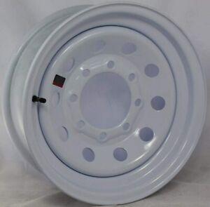 1-New-16-Inch-New-Trailer-Wheels-16x6-8x6-5-8-Lug-White-Mod-Rim