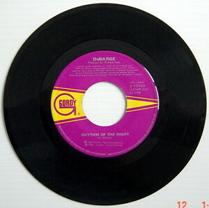 ONE-1985-039-S-45-R-P-M-RECORD-DeBARGE-RHYTHM-OF-THE-NIGHT-QUEEN-OF-MY-HEART
