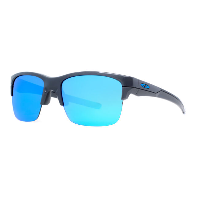Oakley Thinlink OO9316-04 Dark Gray/Sapphire Blue Iridium Mens Sport Sunglasses
