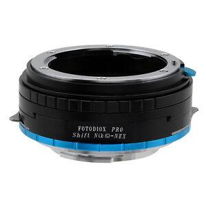 Fotodiox-Objektiv-Shift-Adapter-Pro-Nikon-G-Linse-fur-Sony-Nex-Kamera