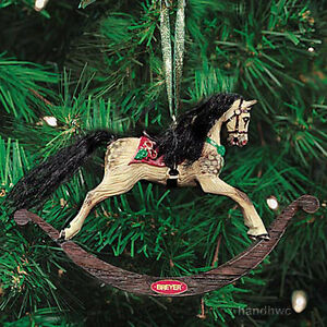 Breyer-700701-Victorian-Rocking-Horse-Holiday-Ornament-Christmas-2001-NIB