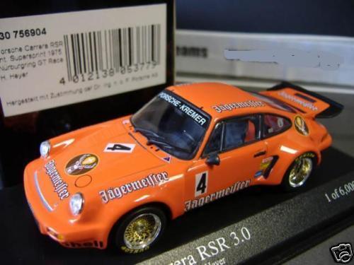 Porsche 911 carrera rsr 3.0 Kremer Jagermeister Heyer  4 Minichamps 1 43