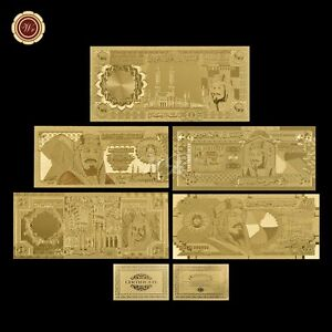 5 PCS Saudi Arabia Riyal Gold Banknote Set 20-500 Riyals ...