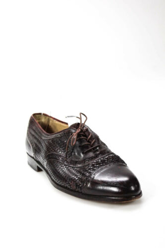 Mezlan Mens Oxfords Shoes Dark Red Leather Size 8