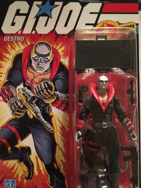 """Gi Joe Retro Vintage 3.75"""" Destro Figure Walmart Exclusive 2020 Retro Cobra"""