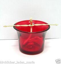 Glas für Öllampe Rote Halter Docht Стакан лампадный стеклянный красный 4,5 cm